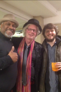 Tony Coleman, Jim Lyons and Steve Malinowski hang out back stage at the show.