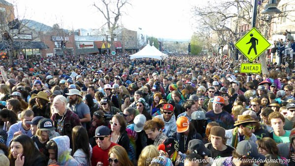 Thousands show up for the String Cheese Incident's free concert on the Hill in Boulder, Monday, April 28, 2014.