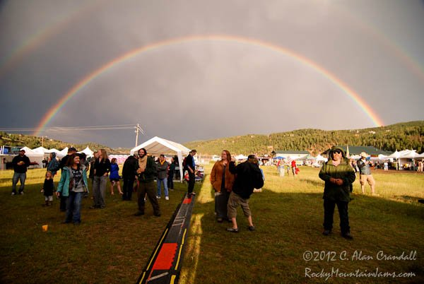 NedFest, experiences a rainbow for the opening day of the 2013 festival.  Many saw this as a sign of Michigan Mike, NedFest founder, smiling down on the festival.