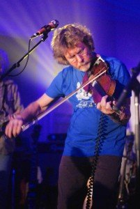 Sam Bush joins Leftover Salmon at the Stanley Hotel in Estes Park in March 2015. (C. Alan Crandall)