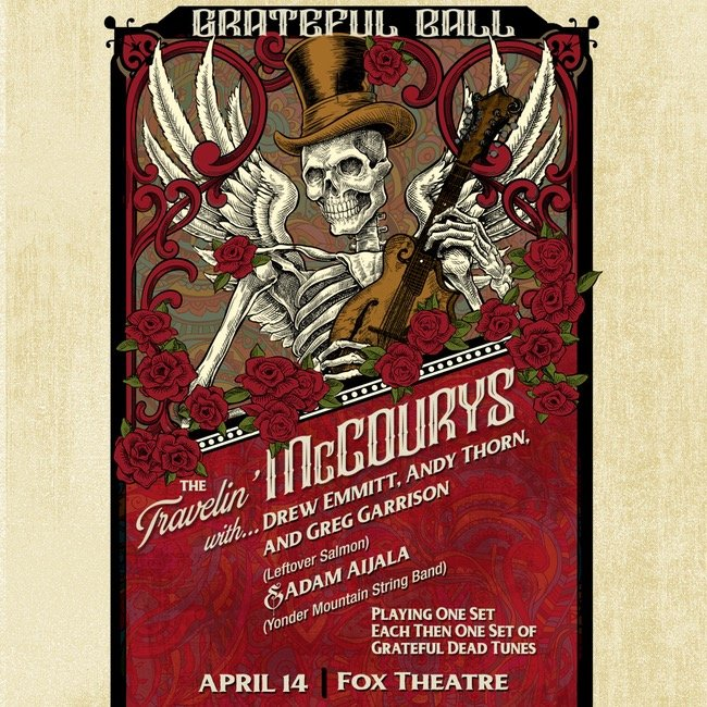 Travelin' McCourys to perform for The Grateful Ball at the Fox Theatre joined by members of Leftover Salmon and Yonder Mountain String Band